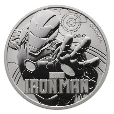 TUVALU 2018 1 DOLLAR SILVER BULLION IRON MAN MARVEL SERIES 1 oz .999 !!!