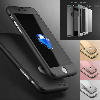 Case for iPhone 8 7 6 Plus XS Cover 360° Luxury UltraThin Shockproof Hybrid