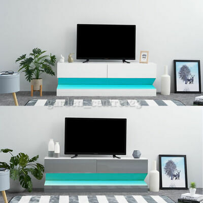 Tv Stand Aircraft White Gloss Floating Cabinet Wall Unit