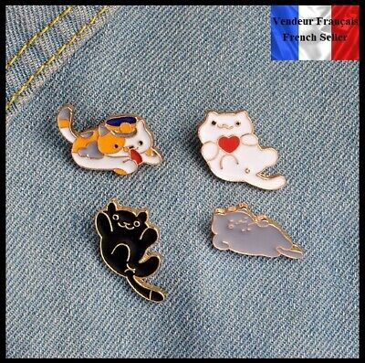 Lot de 4 Pins Badges NEUFS en Métal ( Brooch ) - Chats Cats