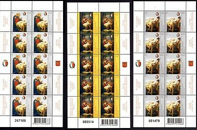 Malta 2007 Christmas Complete Sets of 10  SG1574 - 1576 Unmounted Mint