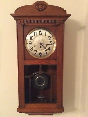 Antique Westminster Chime Wall Clock Junghans Movement **reduced Start Price**