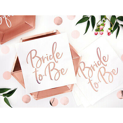 Rose Gold BRIDE TO BE HEN PARTY NAPKINS Hen Night Accessories Tableware