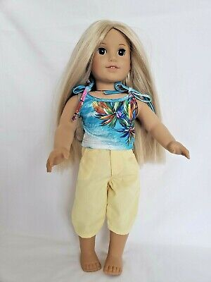 """DOLL CLOTHES -TANKINI SWIMSUIT W/CAPRI PANTS -  fits American Girl and 18"""" Dolls"""