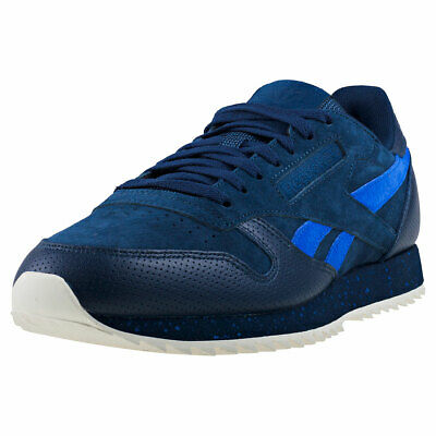 c91233b1776fd8 Reebok Classic Leather Ripple Sm Mens Navy Blue Suede   Leather Fashion  Trainers