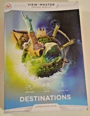 View Master Virtual Reality Experience Pack Destinations NYC London Chichen Itza