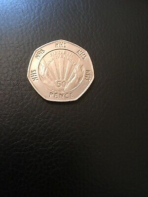 1998 NHS 50th Anniversary 50p Fifty Pence Coin Royal Mint Collectible