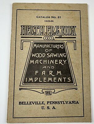 Hertzler & Zook Farm Machinery Catalog 1925-26 Belleville PA
