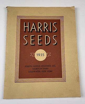 Harris Seeds 1935 Catalog Coldwater NY