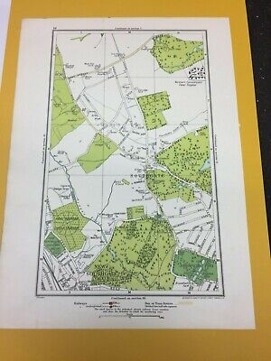Vintage Map Geographia 1923 Southgate New Southgate Broomfield Park