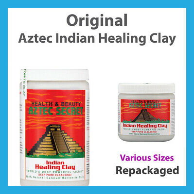 Original 100% Indian Healing Clay Calcium Bentonite Aztec Clay Natural Face Mask