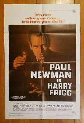 """THE SECRET WAR OF HARRY FRIGG"" 1968 Genuine One-sheet movie poster 27x41 68/105"