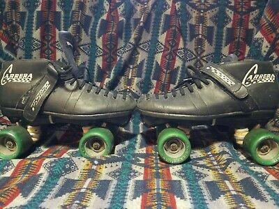cc05d5d0470 Riedell Carrera Speed Roller Skates Size 9 105B Black Style  2 Roller Derby  96A