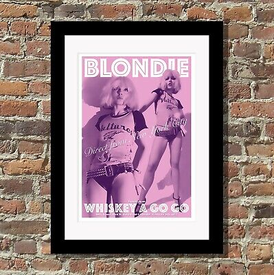 Blondie poster - gallery quality print - Whiskey A Go Go, LA 1977