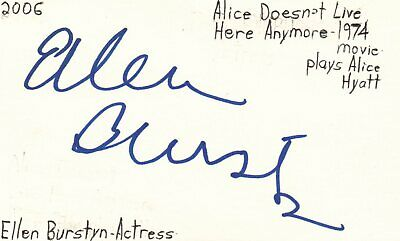 Ellen Barkin Actress Helen In Sea Of Love Movie Autographed Signed Index Card Cards & Papers