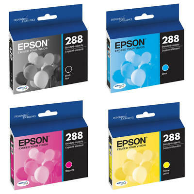 New Genuine Epson 288 4PK Ink Cartridges Expression XP-330 Expression XP-340