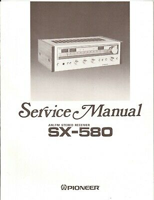 Pioneer SX-580 Original Service Manual. Money Back Guaranty
