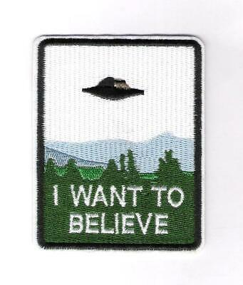 patch embroidered / écusson thermocollant X-Files, I Want To Believe