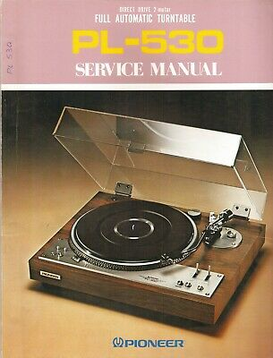 Pioneer PL-530 Original Service Manual. Money Back Guaranty