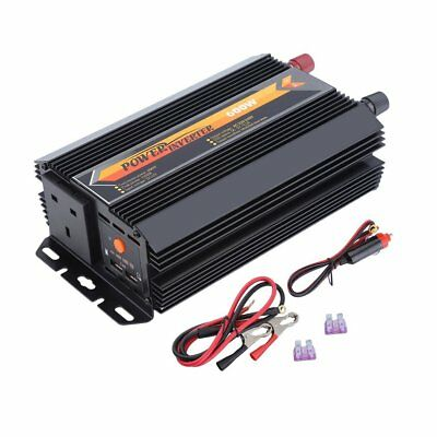 600W-1200W Sine Wave Power Inverter DC12V to AC220-240V Plus Ceramic Heater