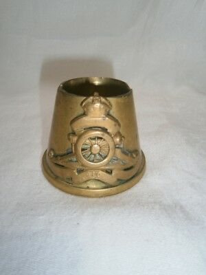Collectable Antique Ww1 Trench Art Fuse Cap Egg Cup - Royal Artillery