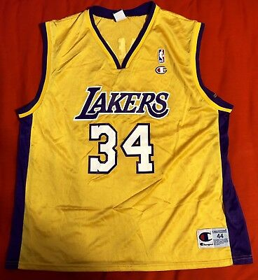 11b137a28 Vintage Los Angeles Lakers Shaquille O neal  34 Champion Jersey Sz 44 L