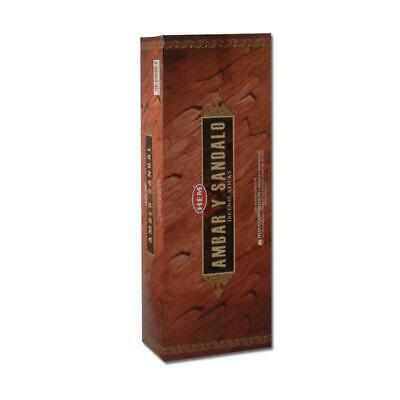 HEM Amber Sandal Incense Sticks - Bulk Pack Of 200 Sticks - Quality Incense