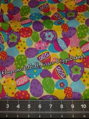 DOG CAT BANDANA Sz XS-L Over Collar EASTER  DECORATED EGGS Bright Holiday Multi