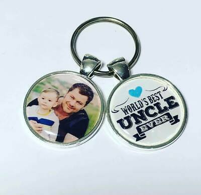 Worlds best Uncle Ever personalised photo keyring Uncle gifts uncle gifts