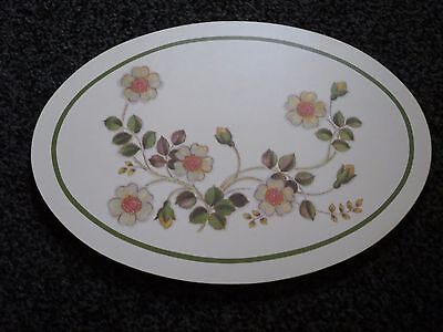 Marks And Spencer   Autumn Leaves Oval Pan Casserole Stand / Trivet Mat Vgc