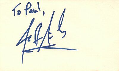 Jeff Abercrombie Guitarist Fuel Rock Band Music Autographed Signed Index Card