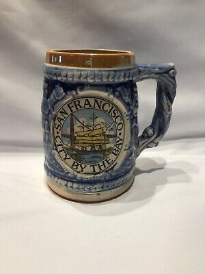 Vintage San Francisco City By The Bay beer mug stein souvenir collectible Japan