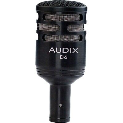 Audix D6 Dynamic Cardioid Instrument Kick Drum Microphone NEW