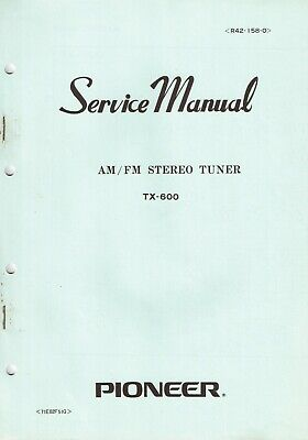 Pioneer TX-60 Original Service Manual. Money Back Guaranty