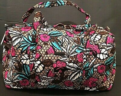 NEW Vera Bradley Large Duffel Bag Canyon Road Pattern Foldable Travel NWT