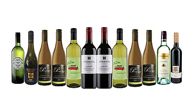 AU Best Seller Brands Red & White Wine RRP$215 12X750mL FREE SHIPPING