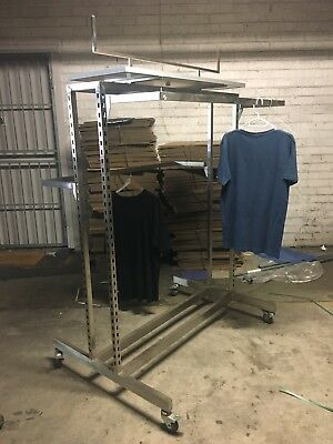Clothes Racks Stands Stainless Steel Shop X 6 URGENT