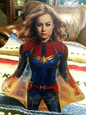 """Captain Marvel 2019 Movie Color Figure Tabletop Display Standee 10 1/4 """" Tall"""