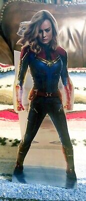 """Captain Marvel 2019 Movie Color Figure Tabletop Display Standee 10"""" Tall"""