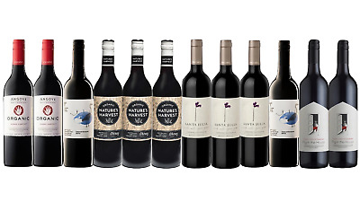 Red Wine Mixed Organic Pack Big Brand Special 12x750ml Free and Fast Delivery