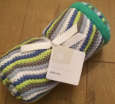 Mothercare Space Dreamer Knitted Blanket Size 70cm X 90cm ** Brand New **