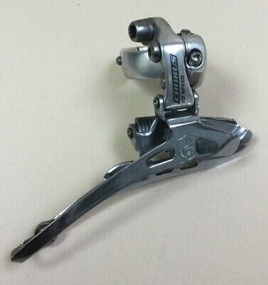 CAMPAGNOLO MIRAGE CLAMP-ON FRONT MECH DERAILLEUR 8S 9S VINTAGE 8 9 SPEED 28.6