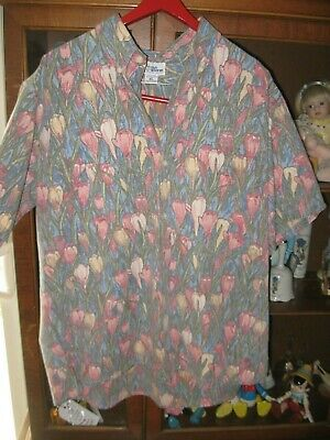 a0009f50 Beautiful Reyn Spooner tulip floral reverse print Button Front Hawaiian  shirt XL