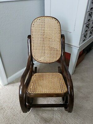 Vintage Bentwood Childs Childrens Rocking Chair Austria Thonet style Rocker Boho