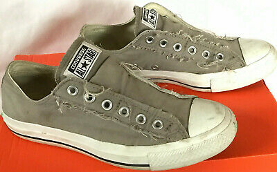 e538368bbb52 Converse Chuck Taylor All Star Slip-On 1X841 Charcoal Sneakers Shoes  Women s 8 M