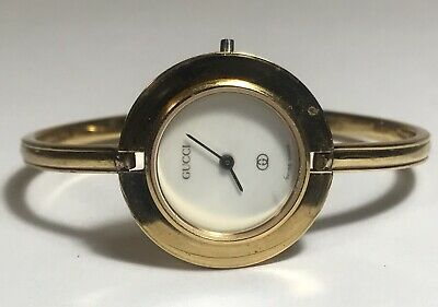 4a39eff41798b VINTAGE GUCCI LADIES Bangle Watch 1100-L for PARTS OR RESTORATION ...