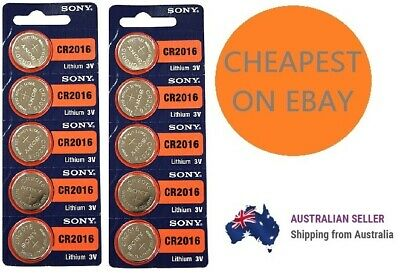 Genuine SONY CR2016 3V Lithium Coin Button Batteries Brand New Cheapest on ebay