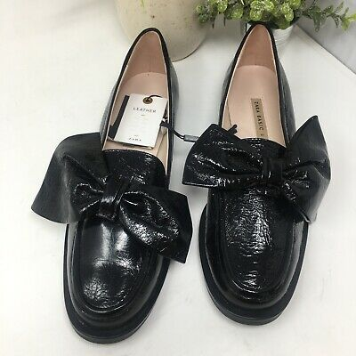 988c33dc77a3 ZARA BEIGE TASSELLED Patent leather Flat Shoes with size EU38 / US ...