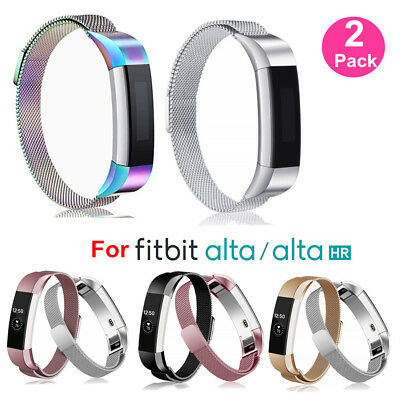 BULKSALE 1/2Pcs Stainless Steel Milanese Straps for Fitbit Alta & Alta HR Band G