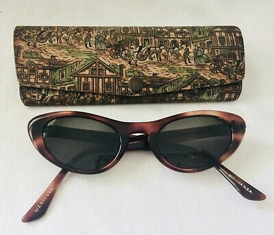 bde12be6d4c0b VINTAGE TORTOISE LOOKING CAT EYE Rx SUNGLASSES with Retro Case ...